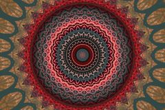 Cirkel abstract roze met grijs ornament Royalty-vrije Stock Afbeeldingen