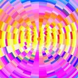 Cirkel abstracte achtergrond in gele en violette tinten Stock Afbeelding