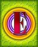 Cirkel alfabet - E Stock Afbeelding