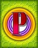 Cirkel alfabet - P royalty-vrije stock afbeelding