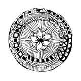 Cirkel arabesque, vectorillustratie Stock Afbeeldingen