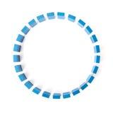 Cirkel av blåa byggnadskvarter Royaltyfri Fotografi