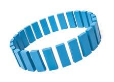Cirkel av blåa byggnadskvarter Arkivbilder