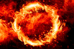 Cirkel av brand Arkivfoton