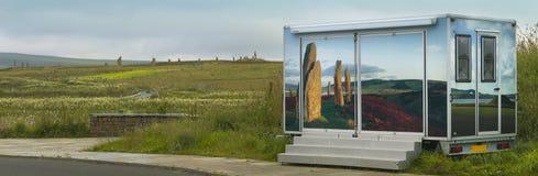 Cirkel av Brodgar Förhistorisk domarring i Orkney scotland Royaltyfria Foton
