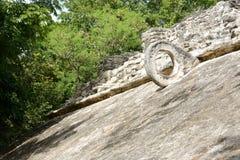 Cirkel av den mayan matchen Royaltyfri Fotografi