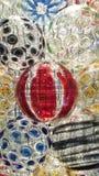 Cirkel av färgrik kristallkula royaltyfria bilder