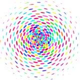 Cirkel av kulöra ovals vektor illustrationer