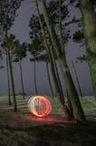 Cirkel av lampa Arkivbild