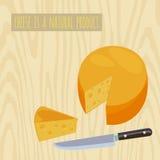 Cirkel av ost vektor illustrationer