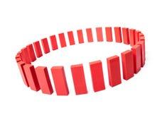Cirkel av röda buidling kvarter Arkivfoton