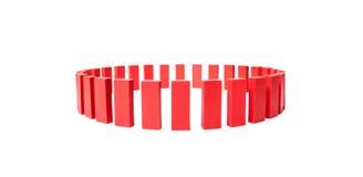 Cirkel av röda byggnadskvarter Arkivbild