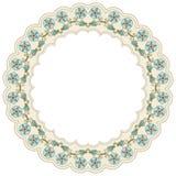 Cirkel bloemenachtergrond  Stock Afbeelding