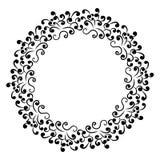 Cirkel bloemenornament, kader voor stock illustratie