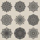 Cirkel bloemenpatroonreeks vector illustratie