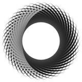 Cirkel, cyclische spiraal, draaikolkelement Grayscale die shap roteren stock illustratie
