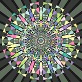Cirkel decoratief geometrisch patroon royalty-vrije illustratie