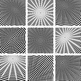 Cirkel en omwenteling. Abstracte geplaatste achtergronden. Royalty-vrije Stock Afbeelding