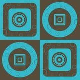 Cirkel en Vierkant Patroon vector illustratie