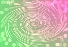 Cirkel för abstrakt begrepp för gräsplan Duotone för festlig bokeh digital rosa guld- royaltyfri illustrationer