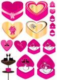 cirkel för förälskelse för askeps-finger stock illustrationer