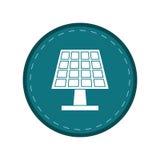 Cirkel för gräsplan för rengöring för solpanelenergi ekologisk Arkivbild