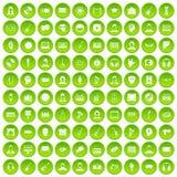 cirkel för gräsplan för uppsättning för 100 åhöraresymboler Arkivbild