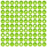 cirkel för gräsplan för uppsättning för 100 auto symboler för tjänste- mitt Arkivfoton