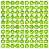 cirkel för gräsplan för uppsättning för 100 hundsymboler Royaltyfri Bild