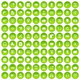 cirkel för gräsplan för uppsättning för 100 symboler för appellmitt Arkivfoto