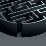 Cirkel för labyrint 3d Arkivbild