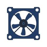 Cirkel för makt för teknologi för blåsare för luft för utrustning för ventilator för vind för vektor för dator för propellerfanky Royaltyfri Fotografi