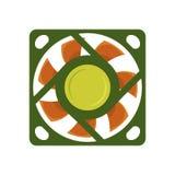 Cirkel för makt för teknologi för blåsare för luft för utrustning för ventilator för vind för vektor för dator för propellerfanky Fotografering för Bildbyråer
