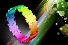 cirkel för pussel 3d Arkivbild