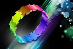 cirkel för pussel 3d Royaltyfria Bilder