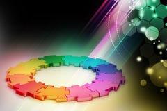 cirkel för pussel 3d Royaltyfri Fotografi
