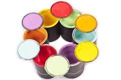 Cirkel för regnbågemålarfärgfärg Royaltyfri Fotografi