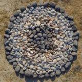 Cirkel från stenar Arkivfoton