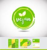 Cirkel för emblem för symbol för strikt vegetariangrungelogo Royaltyfria Bilder