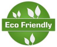 Cirkel för sidor för Eco vänskapsmatchgräsplan Royaltyfri Bild