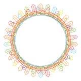 Cirkel frame met stadssilhouet royalty-vrije illustratie