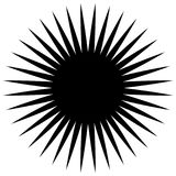 Cirkel geometrisch element van radiale spokes, lijnen Abstracte bla stock illustratie