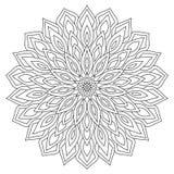 Cirkel geometrisch ornament Rond overzicht Mandala voor het kleuren van pagina royalty-vrije illustratie