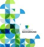 Cirkel geometrische abstracte achtergrond Stock Afbeelding