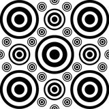 Cirkel geometrische vormenachtergrond Stock Foto's