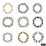 Cirkel geplaatste installatiekaders Royalty-vrije Stock Afbeeldingen