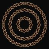 Cirkel gouden kader vector illustratie