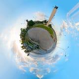 Cirkel 360 graden panorama van Fertilia-vierkant Royalty-vrije Stock Foto
