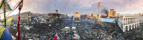 Cirkel 360 graden panorama van Maidan Stock Afbeelding