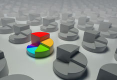 Cirkel grafieken. Stock Foto's